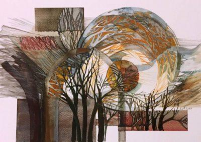 L. Ritók Nóra: Téli alkony (22X34 cm)