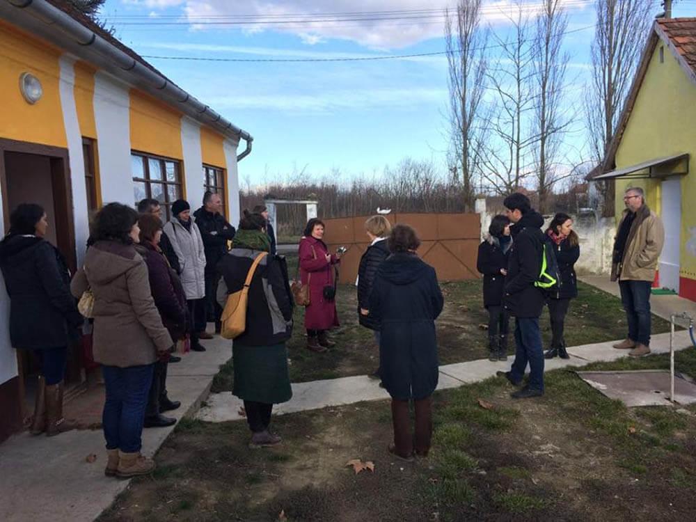 Egy látogatócsoporttal